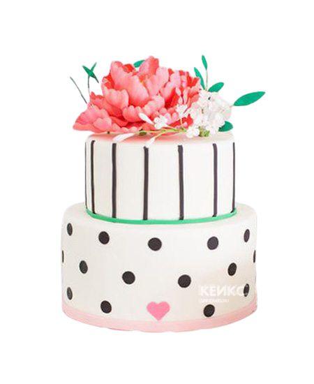 Торт с цветами для девочки 4