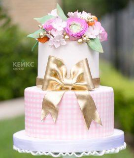 Торт с цветами для девочки 7