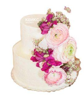 Торт с цветами для девочки 8