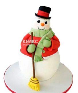 Торт снеговик 3