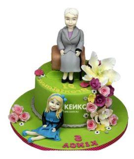 Торт бабушке и маме-8