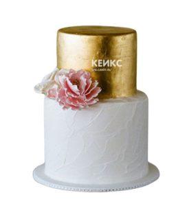 Торт бело золотой 8