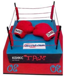 Торт боксерский ринг-4