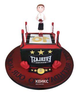 Торт боксерский ринг-9