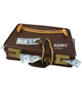 Торт чемодан с деньгами 3