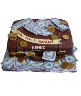 Торт чемодан с деньгами 5