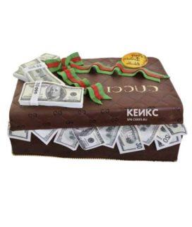 Торт чемодан с деньгами 6