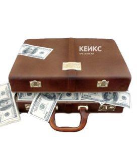 Торт чемодан с деньгами 8