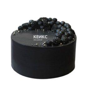 Торт чёрный для мужчины 1