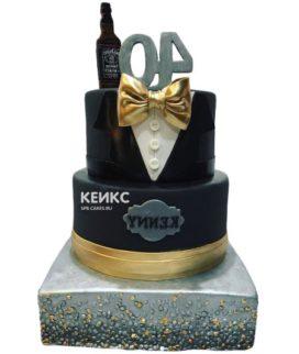 Торт чёрный для мужчины