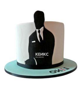 Торт чёрный для мужчины 3