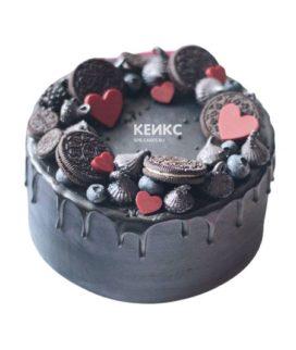 Торт чёрный для мужчины 5
