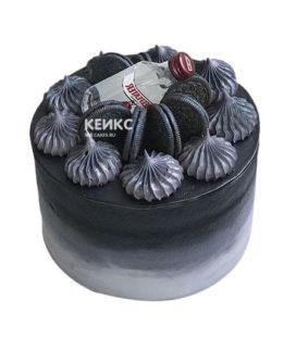 Торт чёрный для мужчины 6