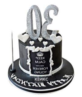 Торт чёрный для мужчины 9