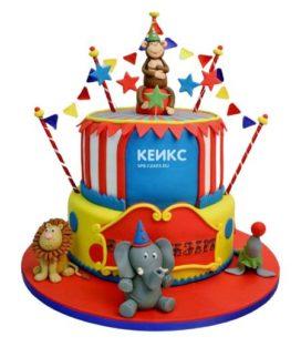 Торт цирк-13