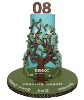 Торт дерево