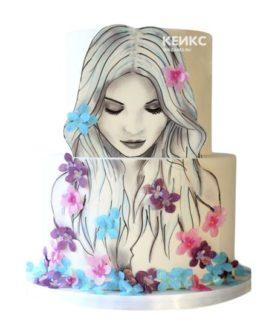 Торт девушке на 17 лет