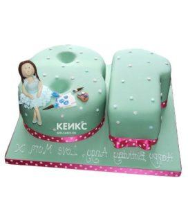 Торт девушке на 18 лет необычный 3