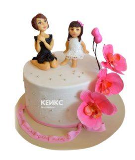 Торт для мамы и дочки