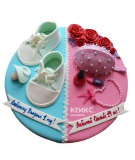 Торт для мамы и сына 5