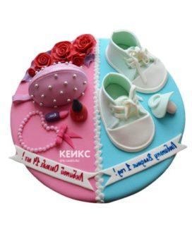 Торт для мамы и сына-5