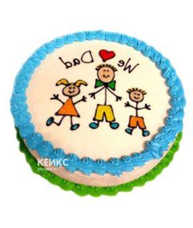Торт для мужа и папы-17