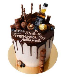 Торт для мужчины без мастики-3