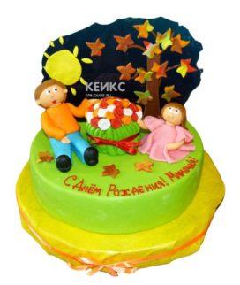 Торт для папы и дочки 2
