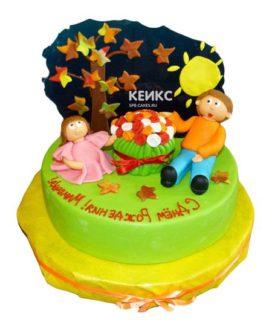 Торт для папы и дочки-2