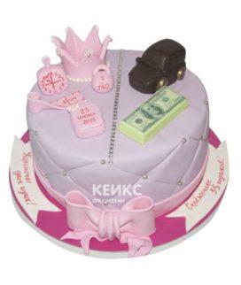 Торт для папы и дочки 3