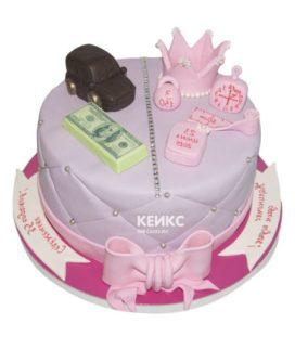 Торт для папы и дочки-3