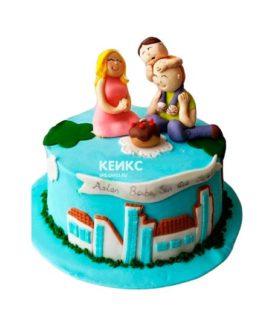 Торт для мамы и папы 4