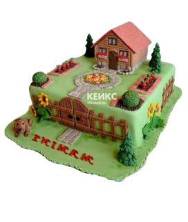 Торт домик в деревне-1