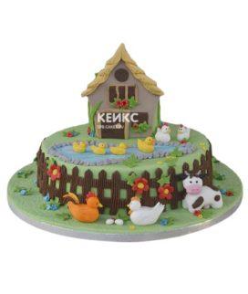 Торт домик в деревне-10