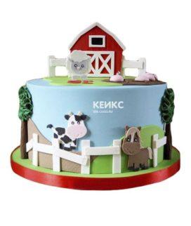 Торт домик в деревне-2