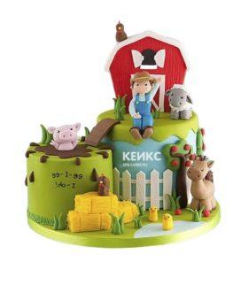 Торт красный домик в деревне