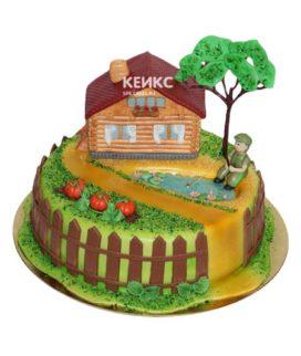 Торт домик в деревне-5