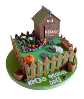 Торт домик в деревне-6