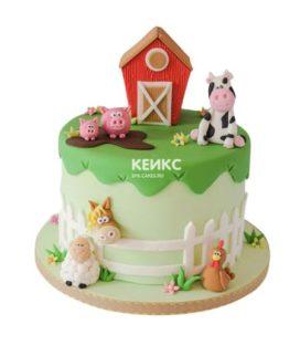 Торт домик в деревне-7