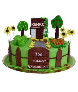 Торт домик в деревне-8