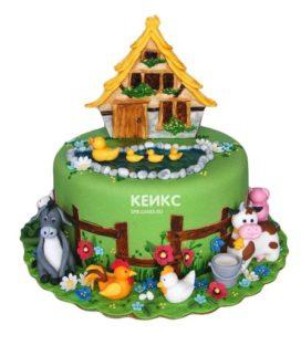 Торт домик в деревне-9