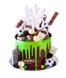 Торт футбол без мастики 11