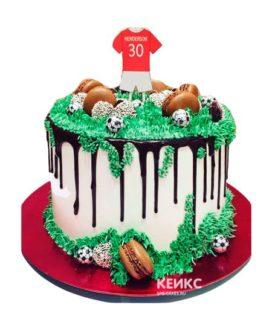 Торт футбол без мастики 14