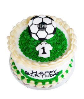 Торт футбол без мастики 18