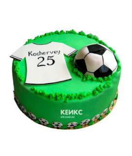 Торт футбол без мастики 19