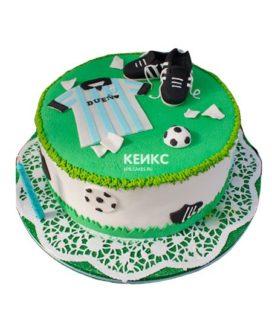 Торт футбол без мастики 4