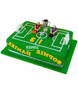 Торт футбольное поле-11