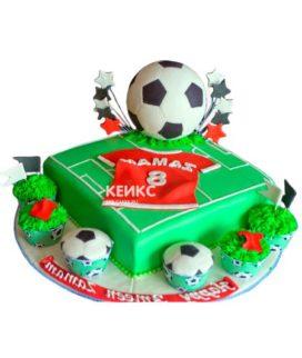 Торт футбольное поле-15