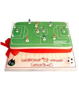 Торт футбольное поле-3
