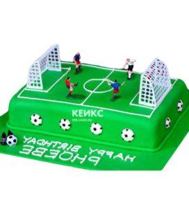 Торт футбольное поле-7